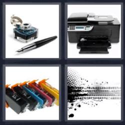 4 fotos 1 palabra impresora