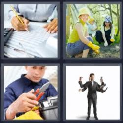 4 fotos 1 palabra mecanico jardineria