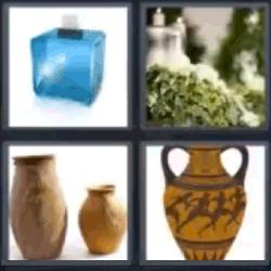 4 fotos 1 palabra jarrones