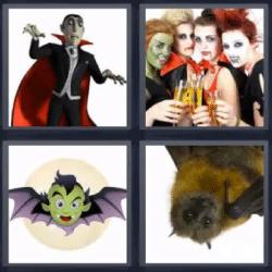 resultado del juego 4 fotos 1 palabra vampiro murciélago respuesta