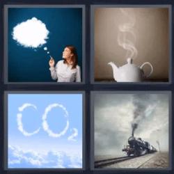 4 fotos 1 palabra humo