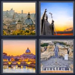 4 fotos 1 palabra estatua del papa