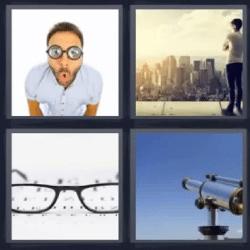 4 fotos 1 palabra lentes