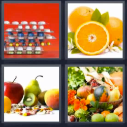 4 fotos 1 palabra frutas