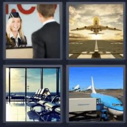 4 fotos 1 palabra aeropuerto