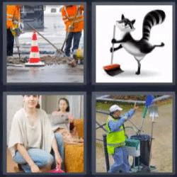 4 fotos 1 palabra limpiando
