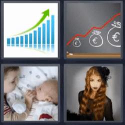 4 fotos 1 palabra gráfica