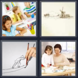 4 fotos 1 palabra ninja pintando