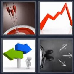 4 fotos 1 palabra flechas