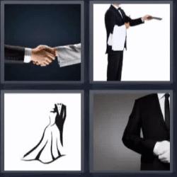 4 fotos 1 palabra hombres dándose la mano