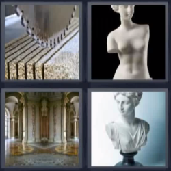 4 fotos 1 palabra esculturas, palacio, sierra