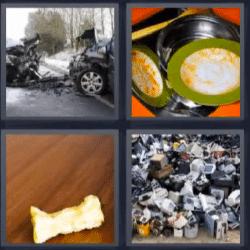 4 fotos 1 palabra accidente