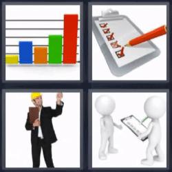 4 fotos 1 palabra gráfica test