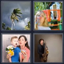 4 fotos 1 palabra huracán