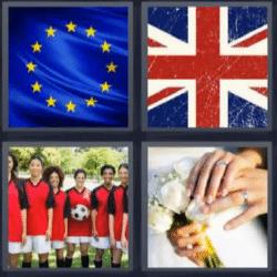 4 fotos 1 palabra bandera europa