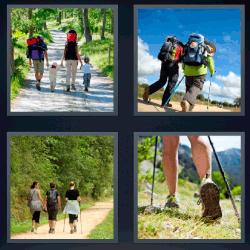 4 Fotos 1 palabra senderismo