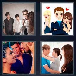 4 fotos 1 palabra amor