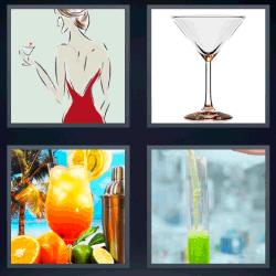 4 fotos 1 palabra mujer copa