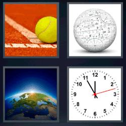 4 fotos 1 palabra pelota de tenis