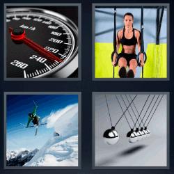 4 fotos 1 palabra cronometro velocímetro esquiador 4fotos