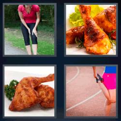 4 fotos 1 palabra mujer corriendo