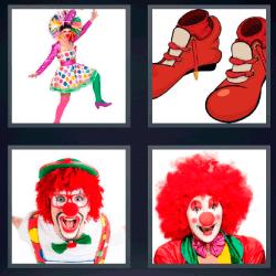 4 fotos 1 palabra zapatos rojos