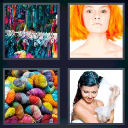 4 fotos 1 palabra ropa colgada