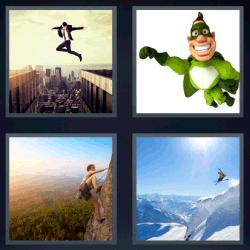 4 Fotos 1 palabra superhéroe