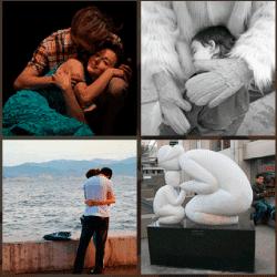 1 palabra 4 fotos niño abrazado
