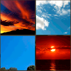 1 palabra 4 fotos cielo rojo
