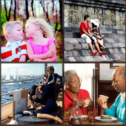 1 palabra 4 fotos niños besándose