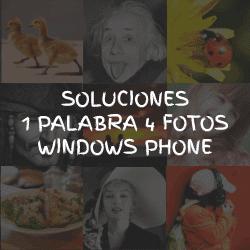 Respuestas 1 Palabra 4 Fotos Windows Phone