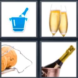 4 fotos 1 palabra champagne