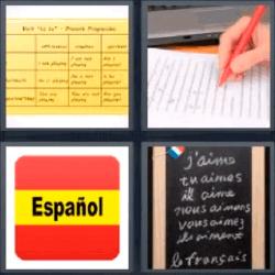 4 fotos 1 palabra bandera espana