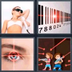 4 fotos 1 palabra codigo de barras