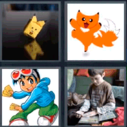 4 fotos 1 palabra caricaturas