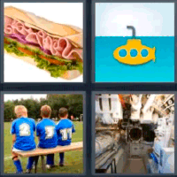 4 fotos 1 palabra sandwich