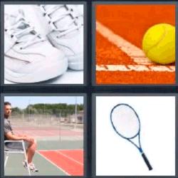 4 fotos 1 palabra raqueta
