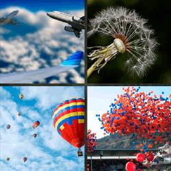 1 palabra 4 fotos globos aviones
