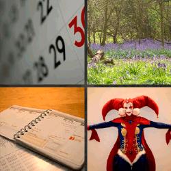1 palabra 4 fotos calendario disfraz