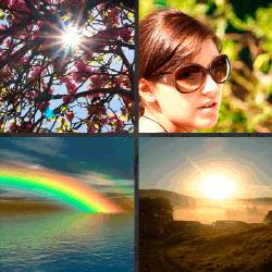 1 palabra 4 fotos arco iris sobre el mar