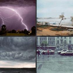 1 palabra 4 fotos trueno lluvia