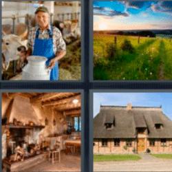 4 fotos 1 palabra granja