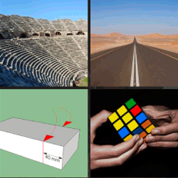 1 palabra 4 fotos cubo de rubik carretera