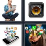 4 fotos 1 palabra iconos aplicaciones