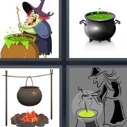 4 fotos 1 palabra bruja