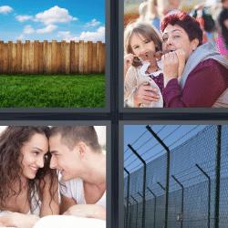 4 fotos 1 palabra valla de madera