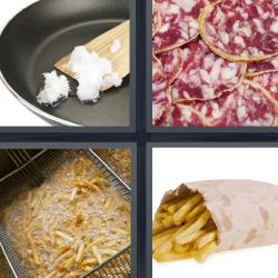 4 fotos 1 palabra papas fritas