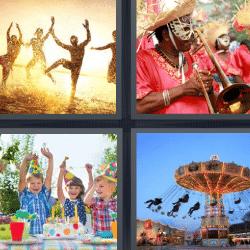 4 fotos 1 palabra carnaval