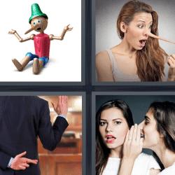 4 fotos 1 palabra nariz larga